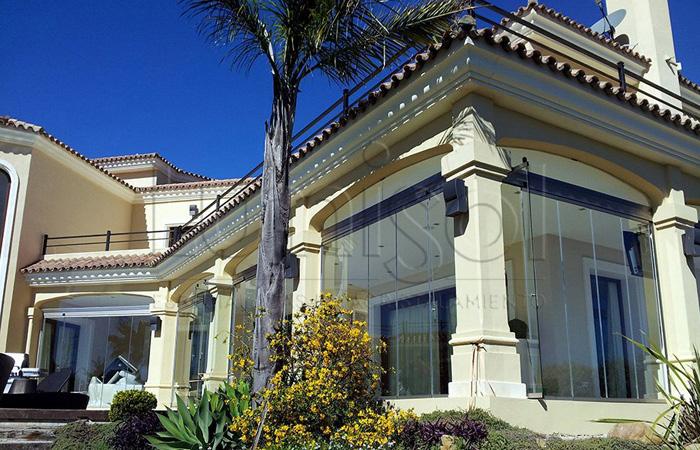 Cortinas de cristal para viviendas